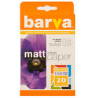 Бумага BARVA матовая двухсторонняя (IP-B190-065), 10x15, 20 листов Код товара 6151