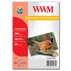 Бумага WWM глянцевая 180 г/м2 (G180.F20), 10x15, 20 листов Код товара 2110