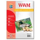 Бумага WWM глянцевая 225 г/м2 (G225.20), А4, 20 листов Код товара 2115