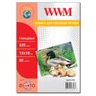 Бумага WWM глянцевая 225 г/м2 (G225.P50), 13x18, 50 листов Код товара 5058