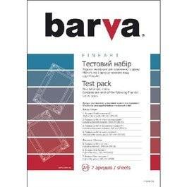 ТЕСТ-НАБОР BARVA FINE ART серия (IP-COM6-T01) 7х1, А4, 7 листов Код товара 6152