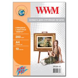 "Бумага WWM Fine Art глянцевая ""Жемчужина"" 200 г/м2 (GP200.10), А4, 10 листов Код товара 17281"